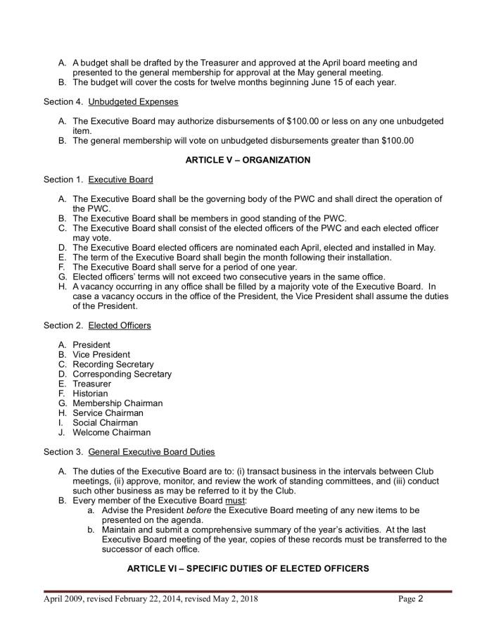 Bylaw amendments February 2018 2