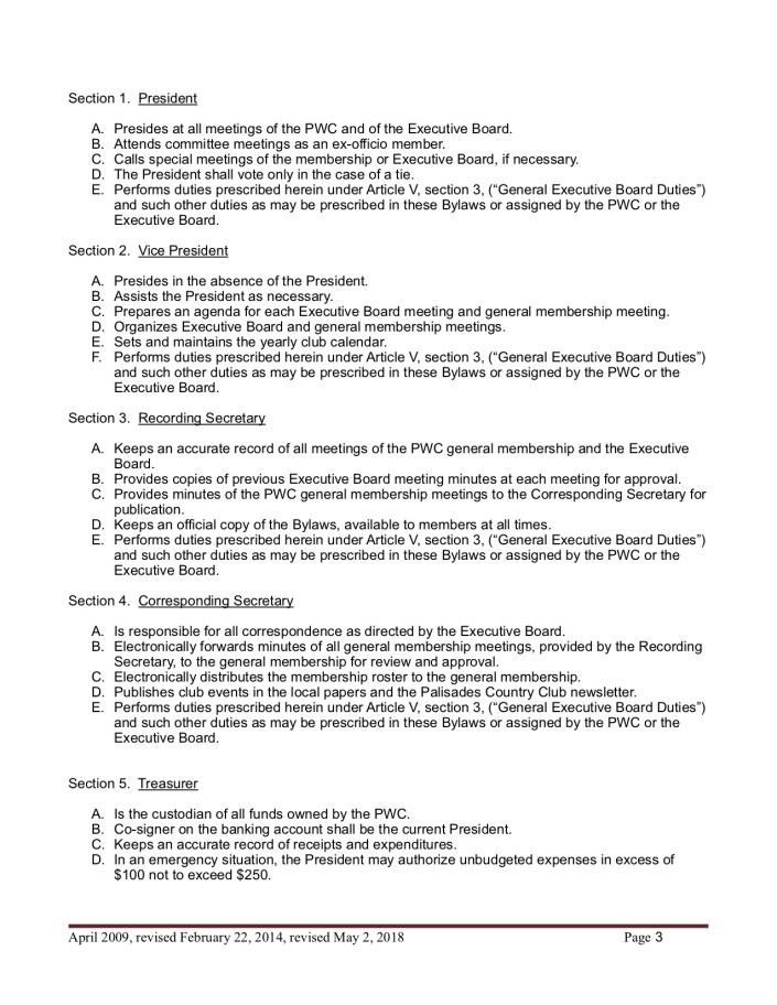 Bylaw amendments February 2018 3