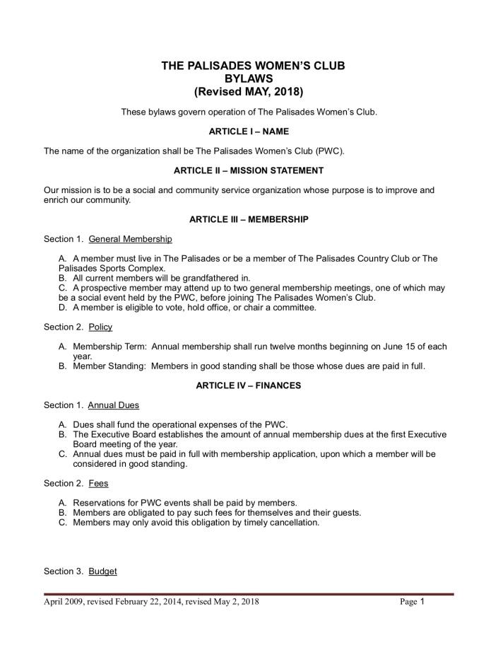 Bylaw amendments February 2018 JP